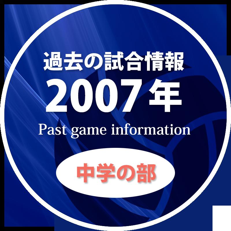 過去の試合情報2007年中学の部
