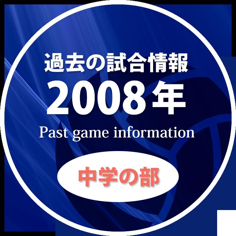 過去の試合情報2008年中学の部