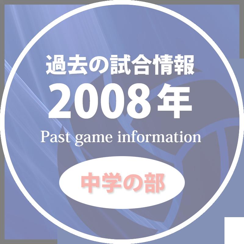 過去の試合情報2008年中学の部50%