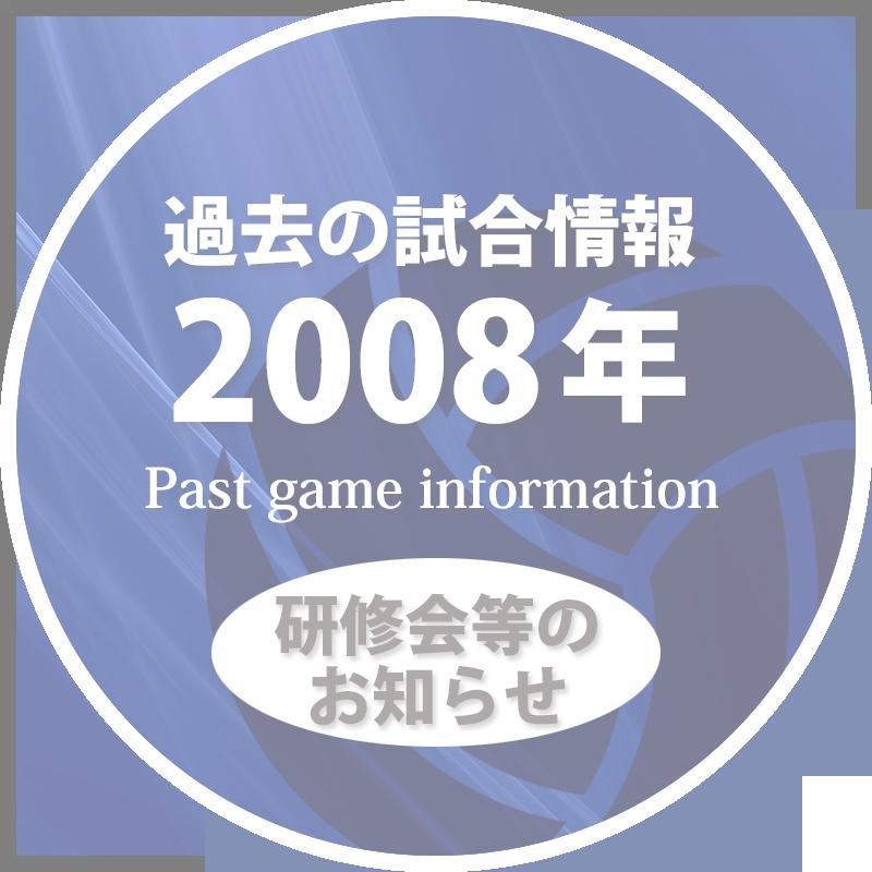 過去の試合情報2008年研修50%