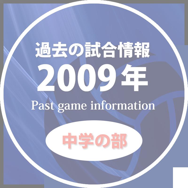 過去の試合情報2009年中学の部50%