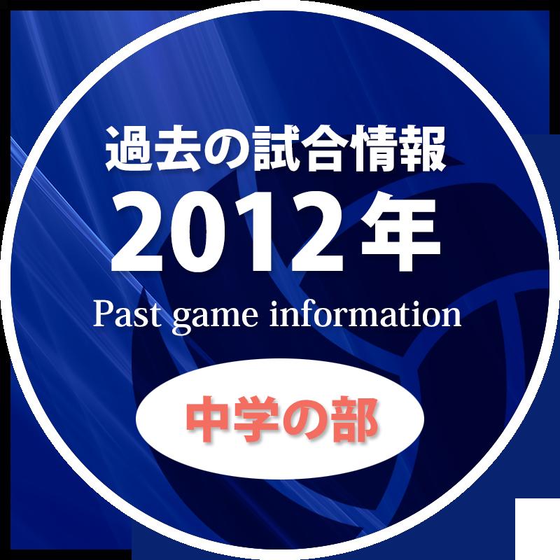 過去の試合情報2012年中学の部
