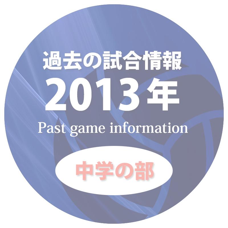 過去の試合情報2013年中学の部