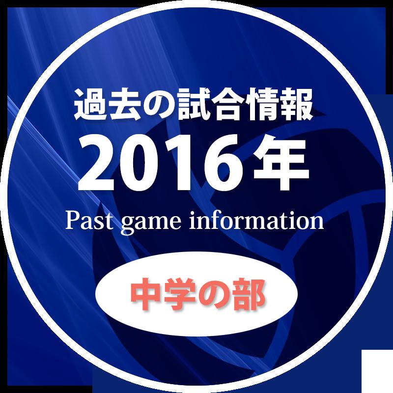過去の試合情報2016年中学の部